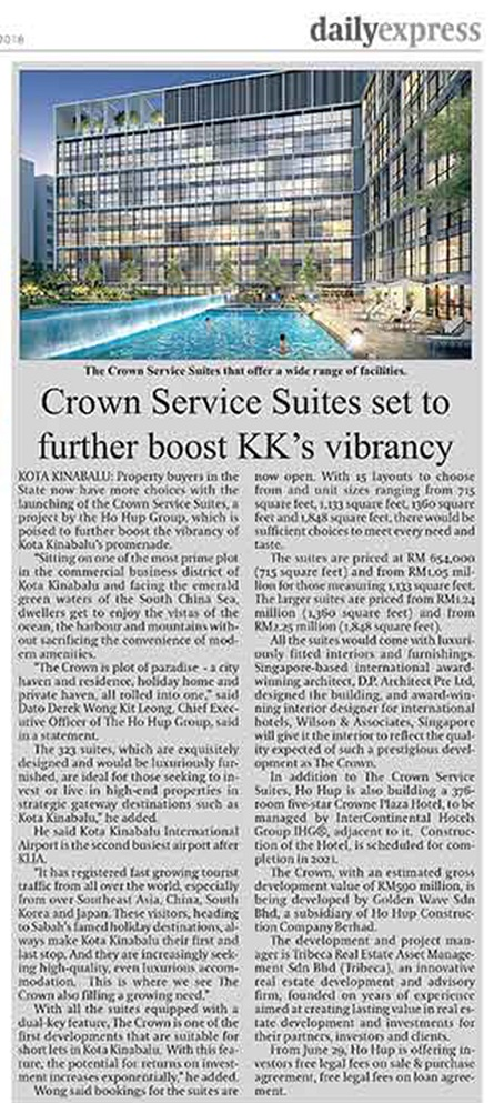 Crown Service Suites set to further boost KK's Vibrancy